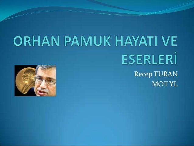 Recep TURAN MOT YL