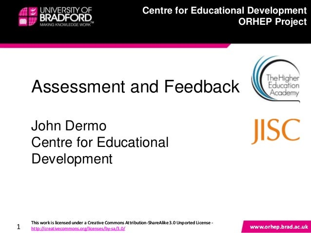 Centre for Educational Development ORHEP Project 1 www.orhep.brad.ac.uk www.orhep.brad.ac.uk This work is licensed under a...