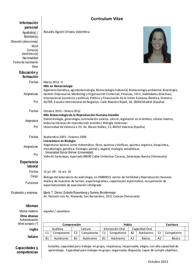 oriana rosales  cv slide share octubre 2 012