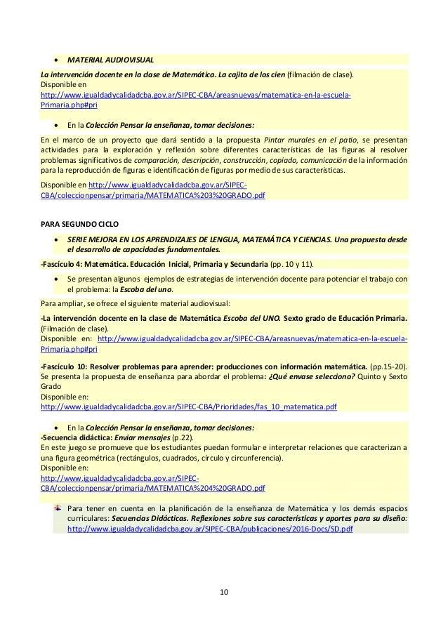 Orientaciones para la apropiación curricular - Primaria Córdoba