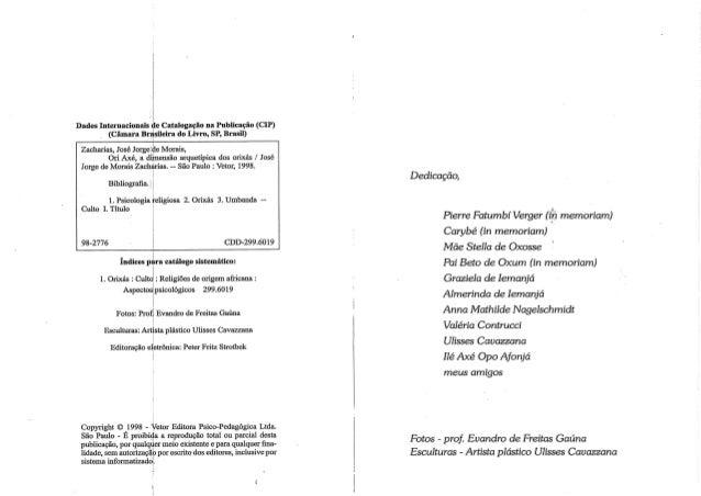 Ori axe a dimensao arquetipica dos orixas Slide 2