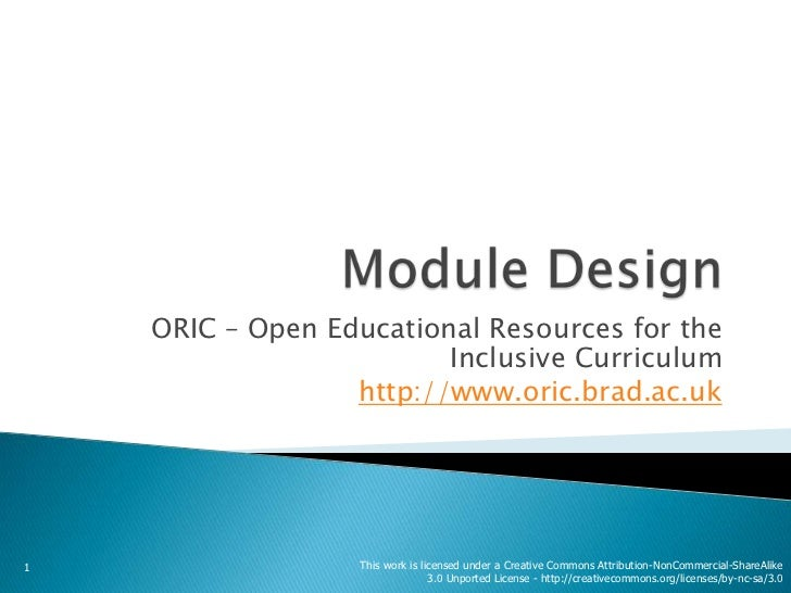 ORIC – Open Educational Resources for the                         Inclusive Curriculum                  http://www.oric.br...