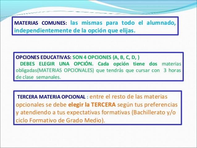 Orientación académica para 3ºESO Slide 2