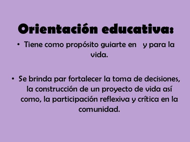 Orientaci N Educativa
