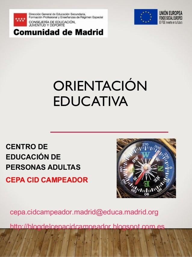 Orientación Y Oferta Educativa