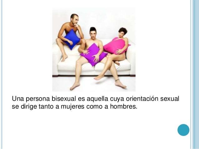 Una persona bisexual que es
