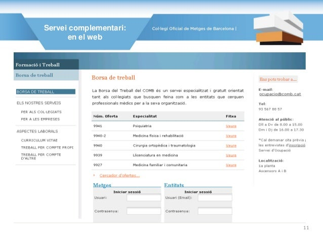 Servei complementari: en el web 11
