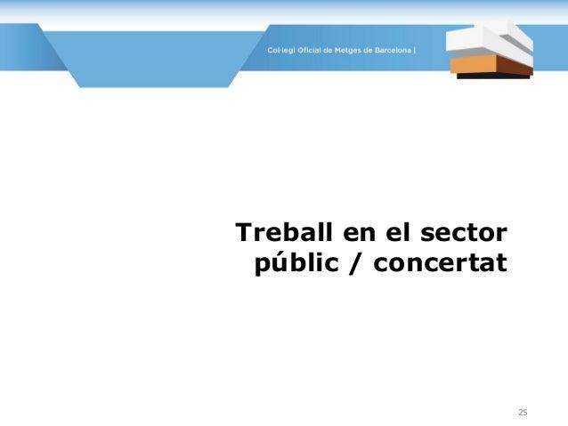 Treball en el sector públic / concertat 25