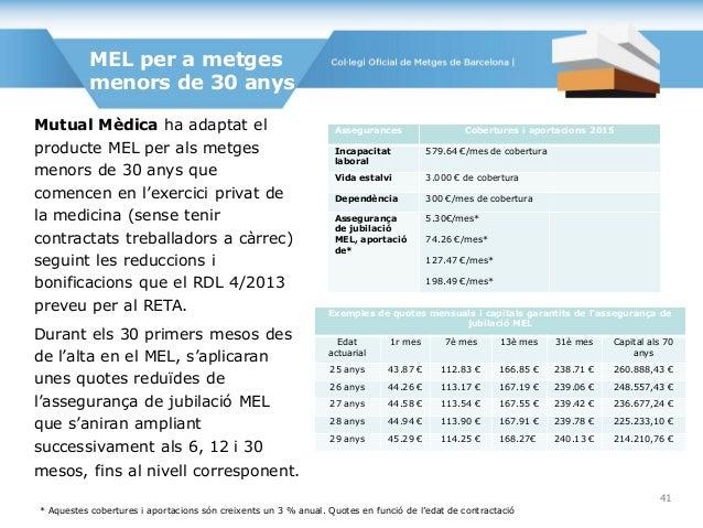 Mutual Mèdica ha adaptat el producte MEL per als metges menors de 30 anys que comencen en l'exercici privat de la medicina...