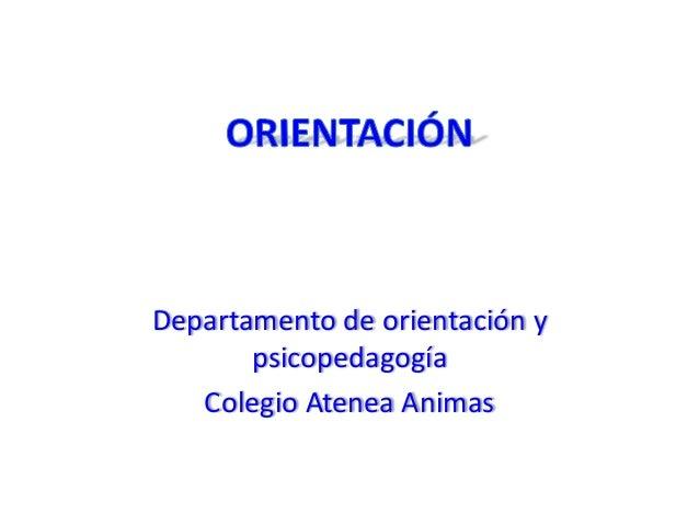Departamento de orientación y psicopedagogía Colegio Atenea Animas