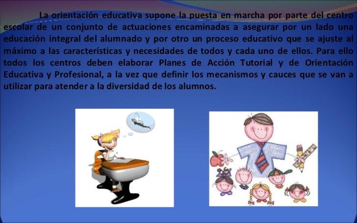 Orientaci n educativa for La accion educativa en el exterior