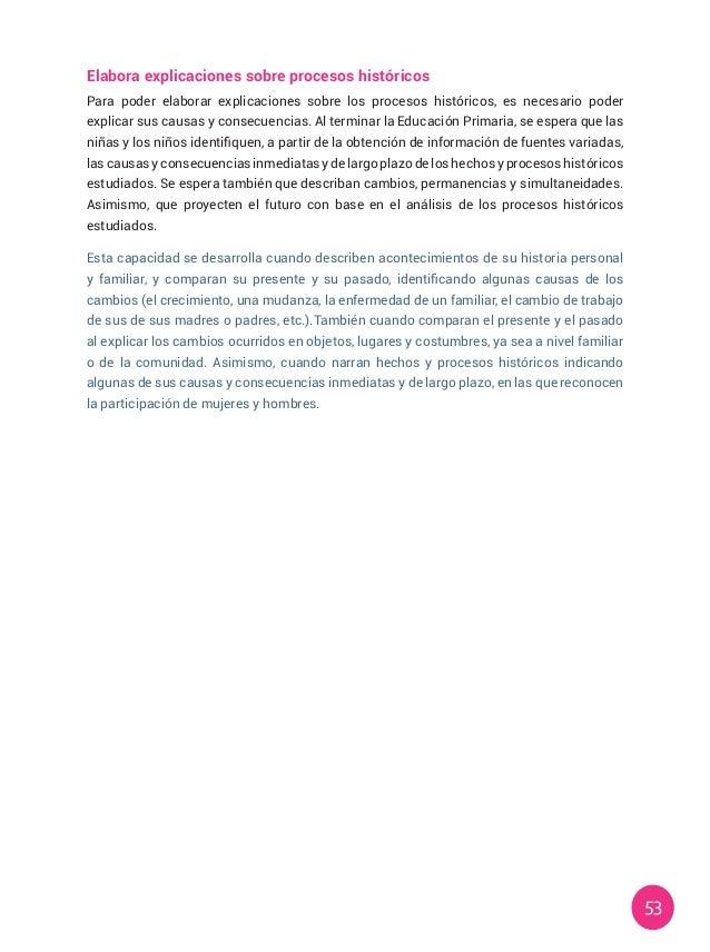 53 Elabora explicaciones sobre procesos históricos Para poder elaborar explicaciones sobre los procesos históricos, es nec...