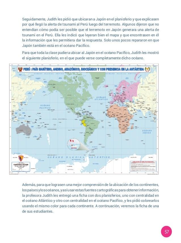 57 Seguidamente, Judith les pidió que ubicaran a Japón en el planisferio y que explicasen por qué llegó la alerta de tsuna...