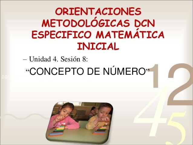 4210011 0010 1010 1101 0001 0100 1011 ORIENTACIONES METODOLÓGICAS DCN ESPECIFICO MATEMÁTICA INICIAL – Unidad 4. Sesión 8: ...