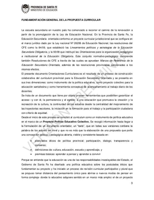 Orientaciones curriculares Secundario Orientado versión Preliminar