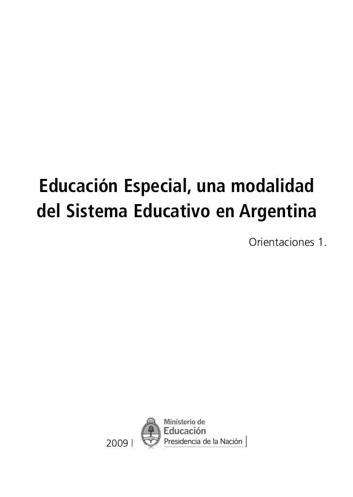 PNUD-09.qxd   20/10/09   13:59   Página 3              Educación Especial, una modalidad              del Sistema Educativ...