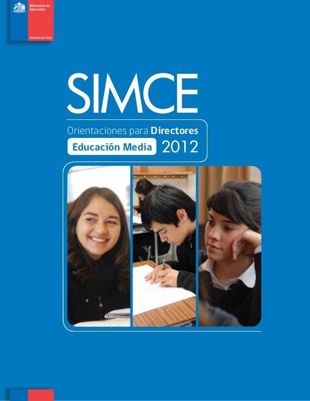 Orientaciones para Directores Educación Media