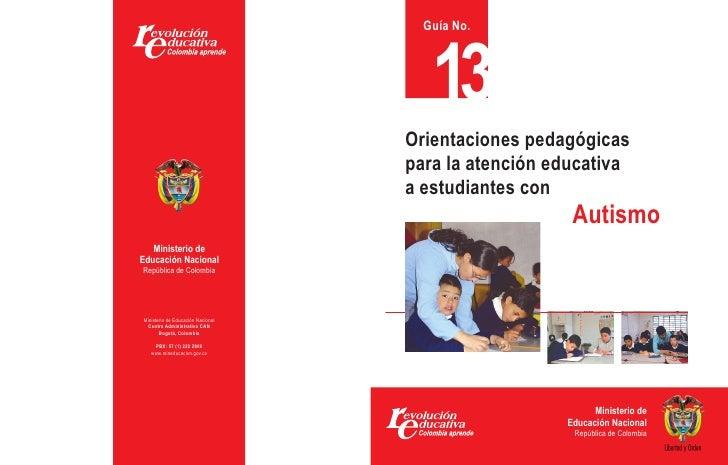 Orientaciones pedagógicas para la atención a estudiantes con Autismo