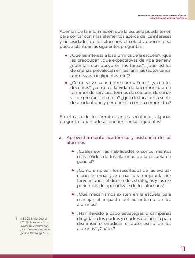PROGRAMA ESCOLAR DE MEJORA CONTINUA (PEMC)