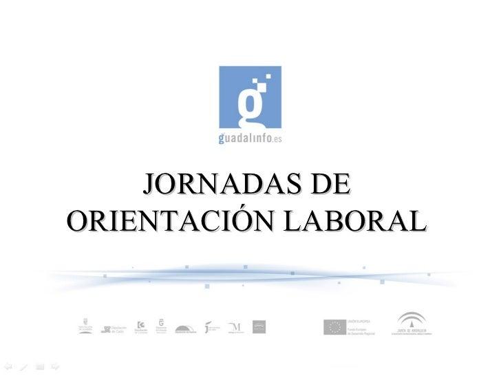 JORNADAS DE ORIENTACIÓN LABORAL