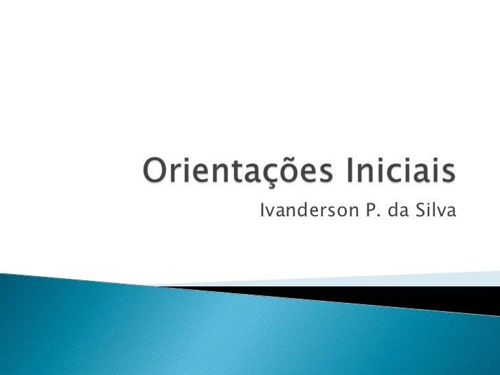 Ivanderson P. da Silva