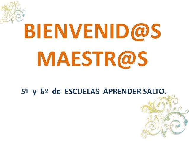 BIENVENID@SMAESTR@S5º y 6º de ESCUELAS APRENDER SALTO.