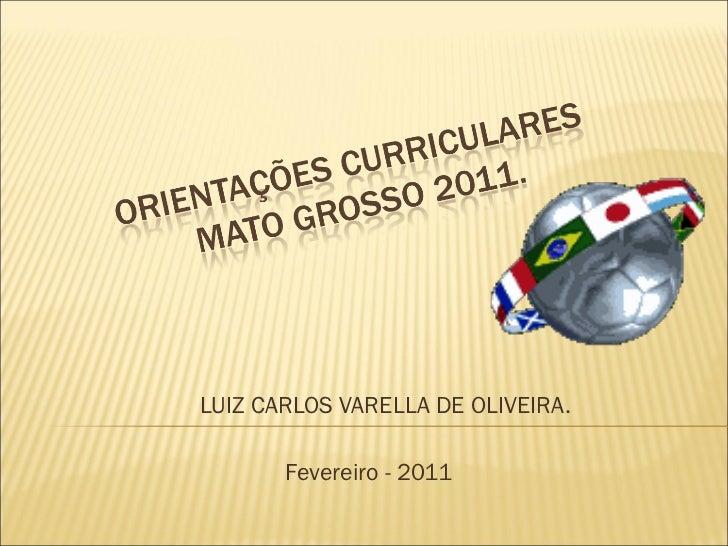 LUIZ CARLOS VARELLA DE OLIVEIRA. Fevereiro - 2011