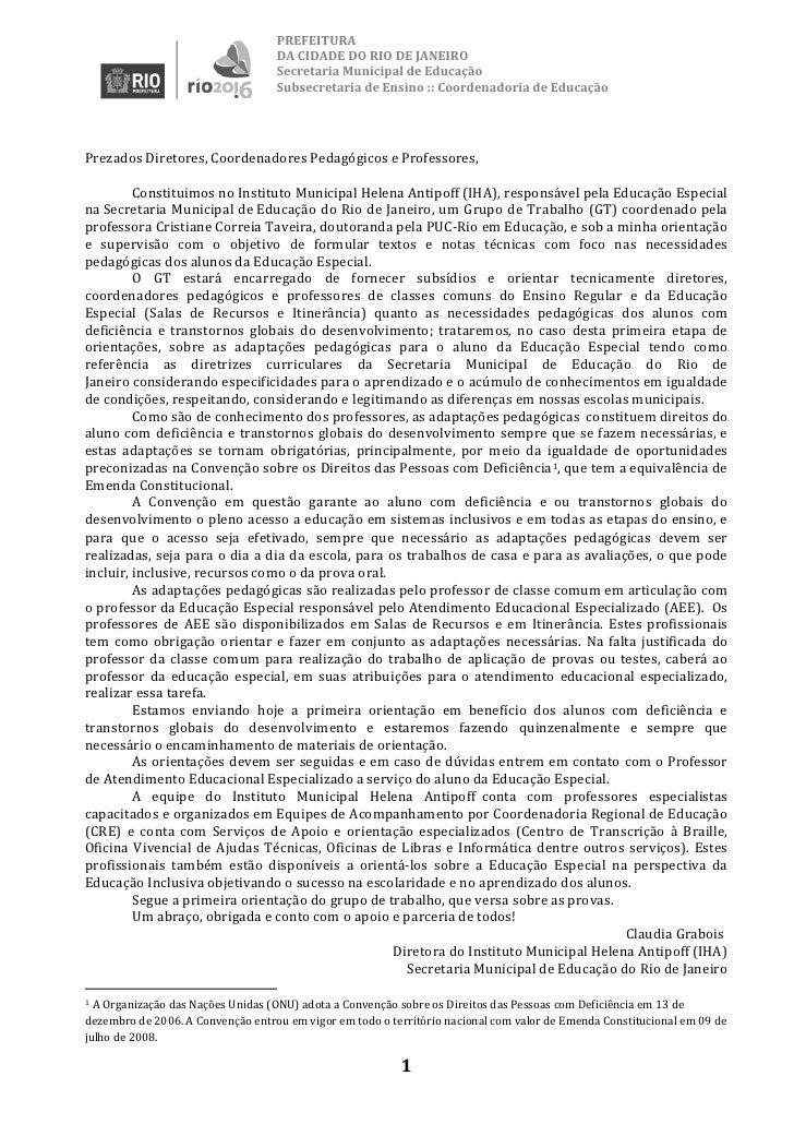 PREFEITURA                                    DA CIDADE DO RIO DE JANEIRO                                    Secretaria Mu...