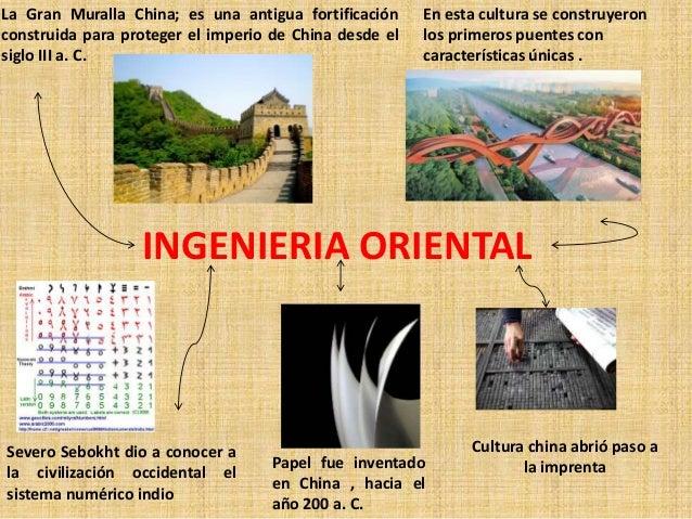 INGENIERIA ORIENTAL La Gran Muralla China; es una antigua fortificación construida para proteger el imperio de China desde...