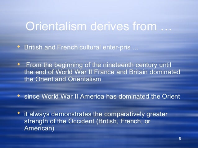 british orientalism Orientalism is a term that is used by art historians, literary and cultural studies scholars for the imitation or depiction of aspects in british orientalism edit.