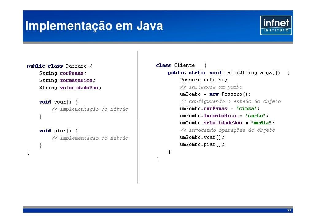 Implementação em Java                             27