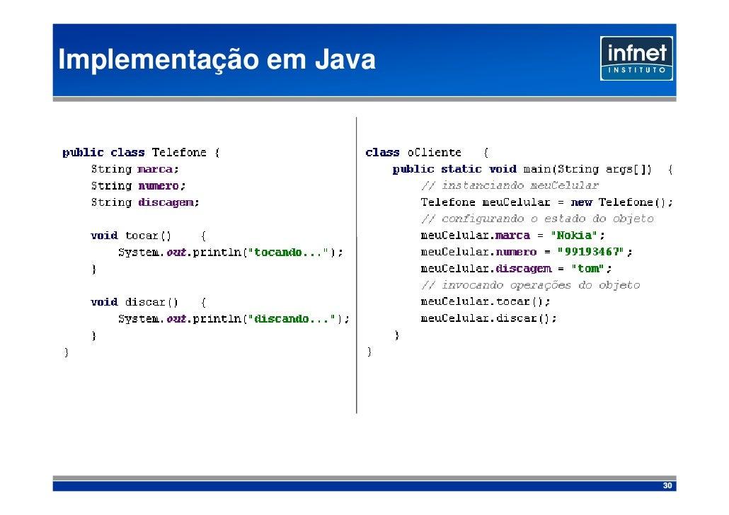 Implementação em Java                             30