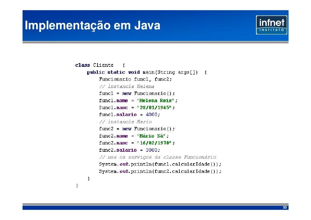 Implementação em Java                             33