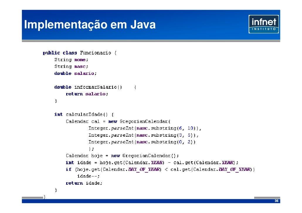 Implementação em Java                             36