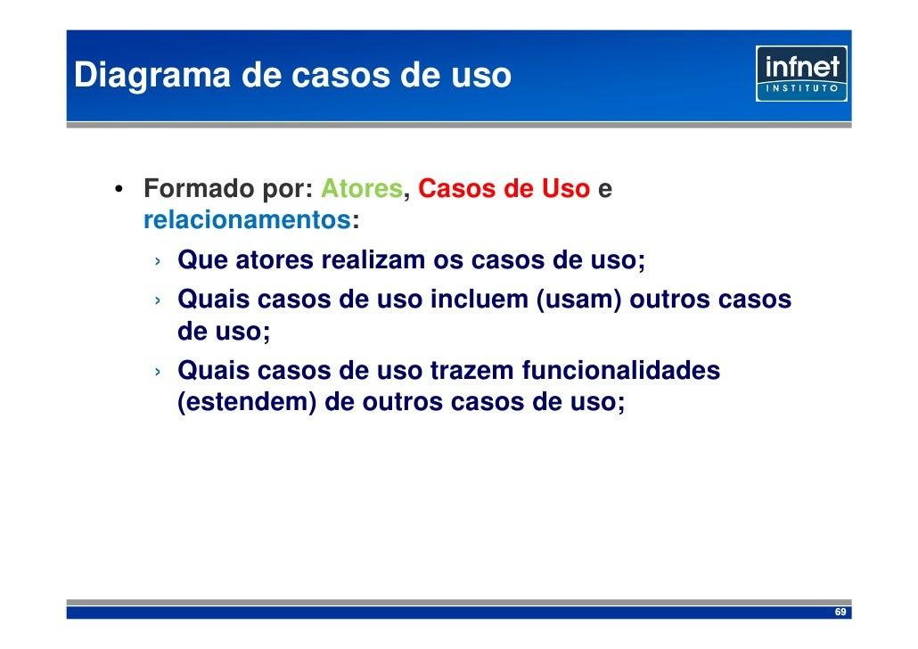 Diagrama de casos de uso     • Formado por: Atores, Casos de Uso e     relacionamentos:     › Que atores realizam os casos...