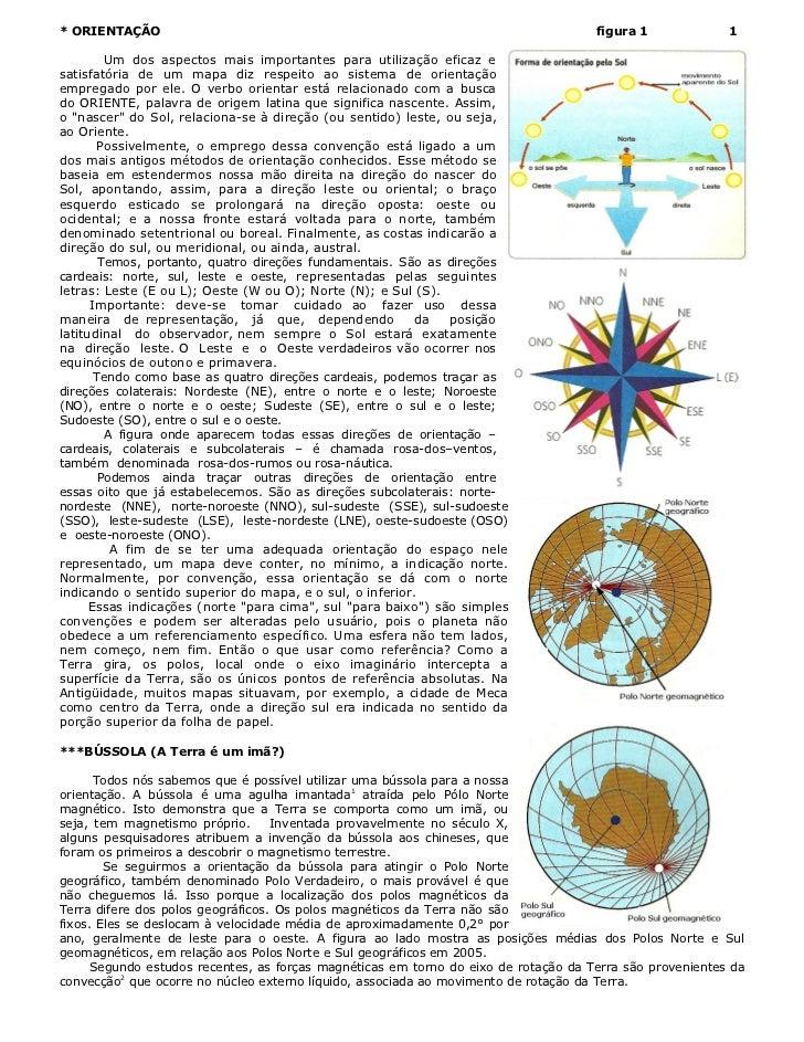 Orientação e coordenadas  apostila -2011