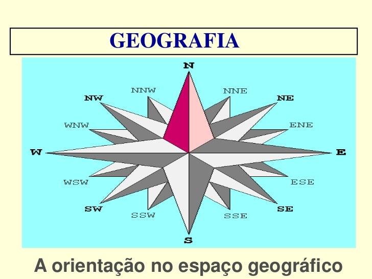 GEOGRAFIAA orientação no espaço geográfico