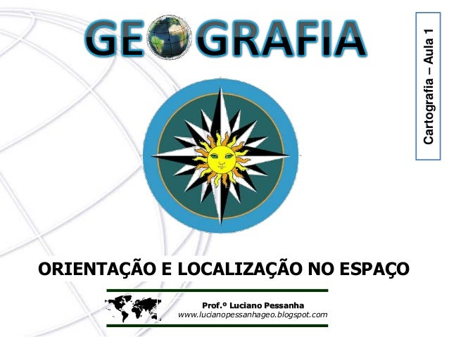  Prof.º Luciano Pessanha www.lucianopessanhageo.blogspot.com ORIENTAÇÃO E LOCALIZAÇÃO NO ESPAÇO Cartografia–Aula1