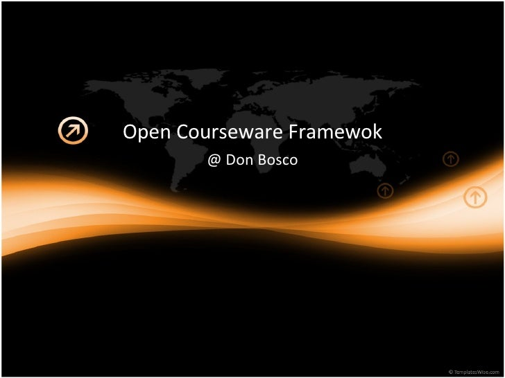 Open Courseware Framewok @ Don Bosco