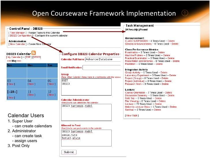 Orientation on Open Courseware Framework @ Don Bosco - 웹