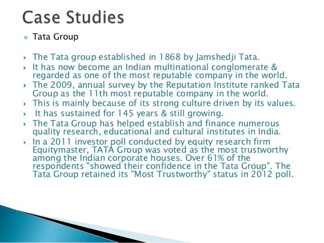 tata group vision and mission Business case studies, vision, mission and goals case study, tata group's strategy: ratan tata's vision.