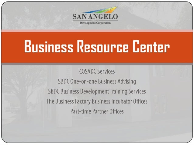 San Angelo Development Corporation Orientation August 14 2013