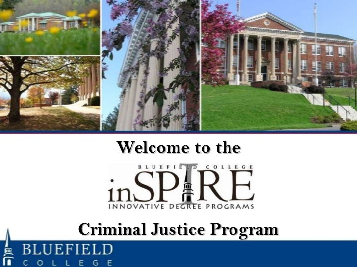 Welcome to theCriminal Justice Program