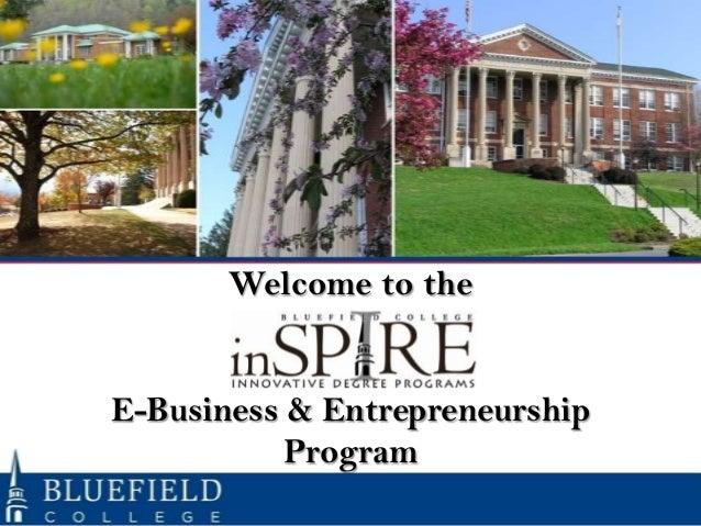 Welcome to theE-Business & Entrepreneurship           Program