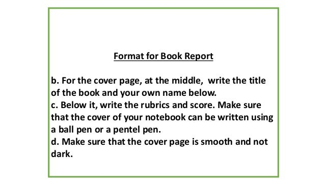 Orientation english 2 – Book Report Cover Sheet