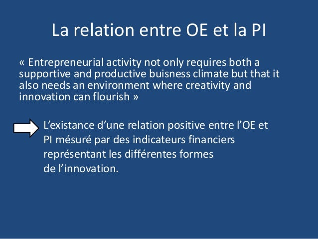 Dissertation relations entre innovation et croissance