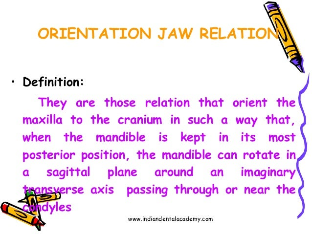 orientation jaw relation 4    dental implant courses by