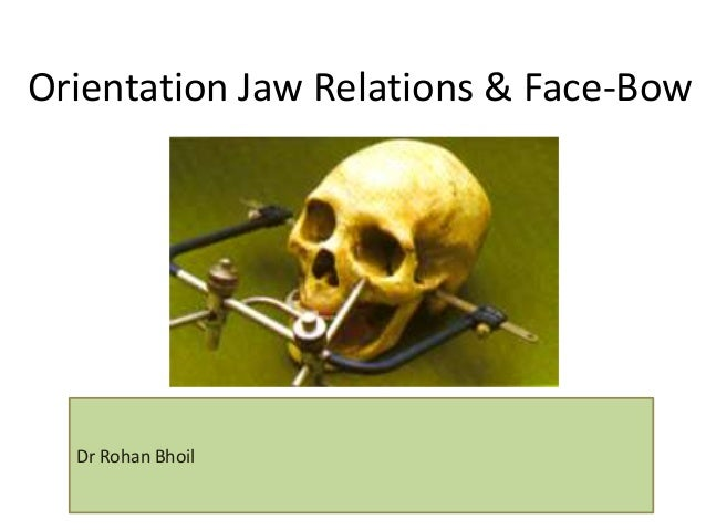 Orientation Jaw Relations & Face-Bow Dr Rohan Bhoil