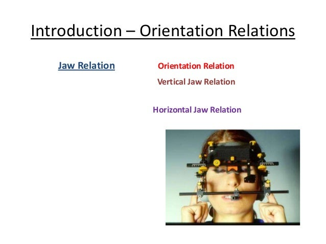 Orientation jaw relations & face bow Slide 3