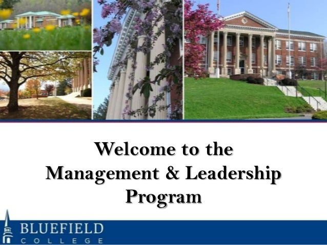 Welcome to the Management & Leadership Program